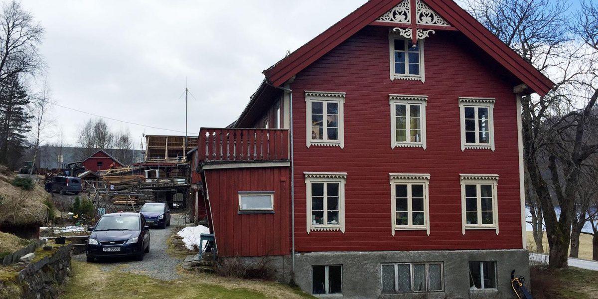 Våningshuset på Grønset gård er der gjestene skal overnatte når turiststasjonen åpner. Foto: Norsk kulturminnefond/Linda Cathrine Herud