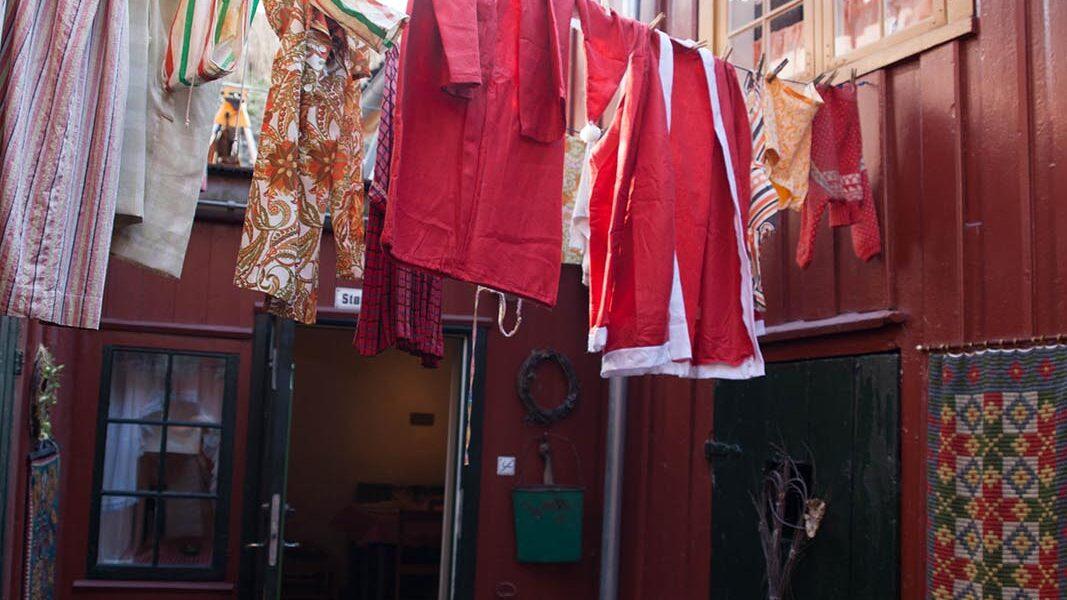 Bakgården på Baklandet Skydsstation. Foto: Linda Cathrine Herud/Kulturminnefondet