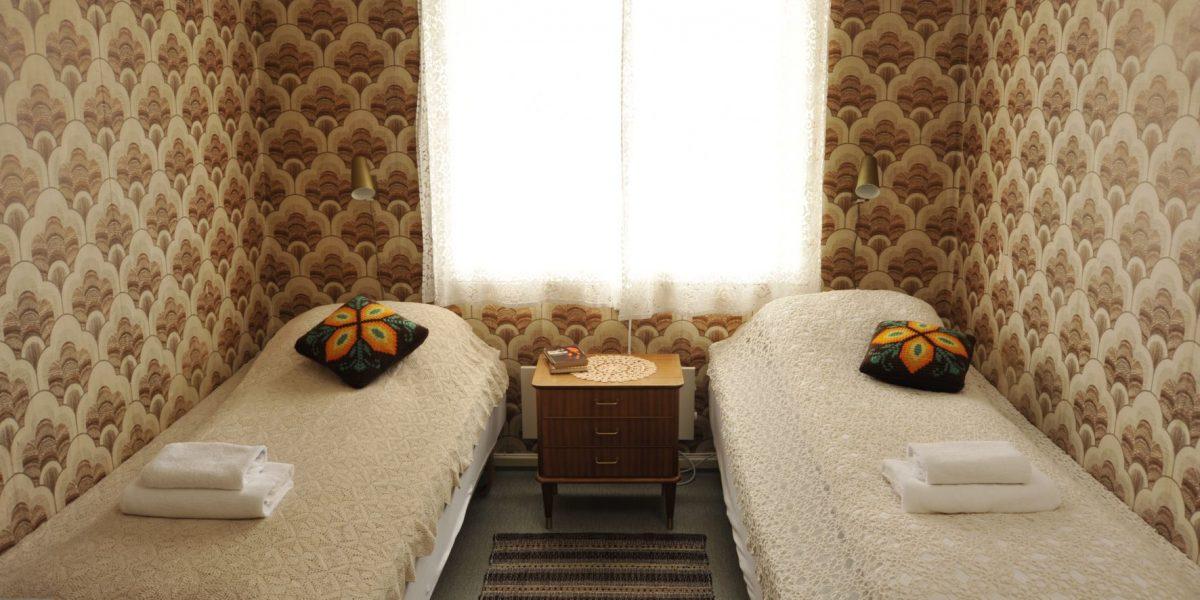 Tapetrommet på Solheim pensjonat. Foto: Brendan Coote