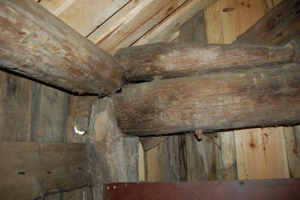 Stegeverk er et uvanlig bæresystem, og det er en konstruksjonsform som sjelden er omtalt i litteratur om bygningstyper og byggeskikk. (Foto: Kulturminnefondet)