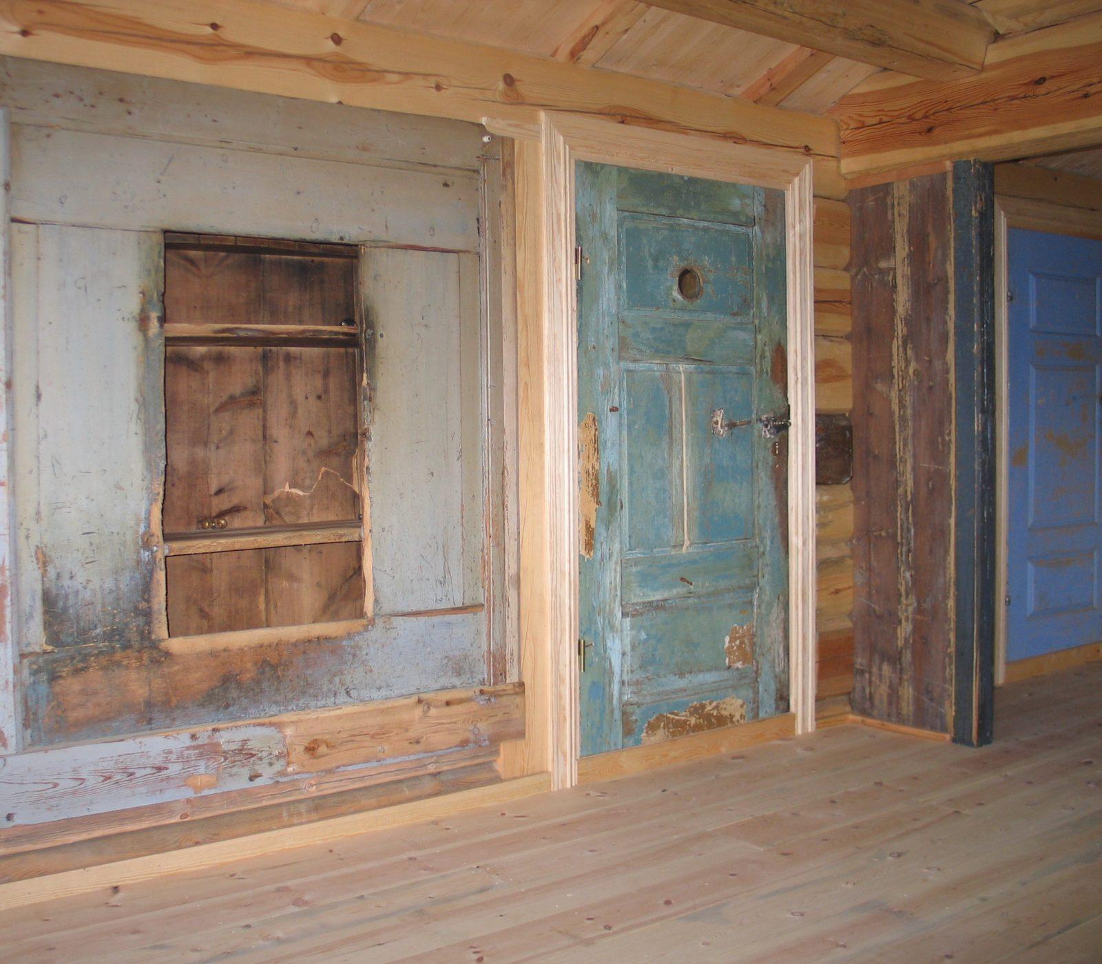 Originale dører ble brukt om igjen. (Foto: Privat/Kulturminnefondet)