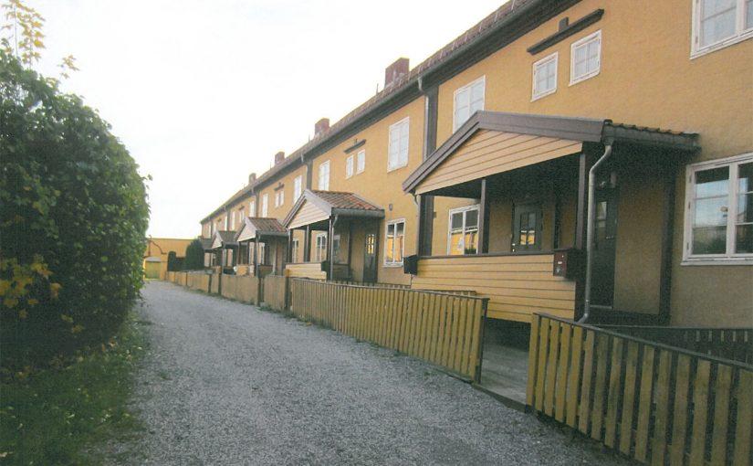 Langblokka i Klosterstranda borettslag i Skien er et av de 488 kulturminner som får støtte fra Kulturminnefondet i 2017. Foto: Kulturminnefondet/fra søknad