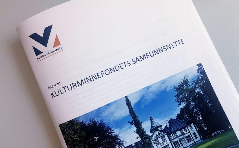 Kulturminnefondets samfunnsnytterapport.