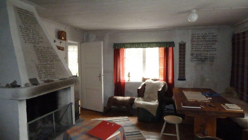 Interiør fra Lilandhuset. (Foto: Vegard Røhme)