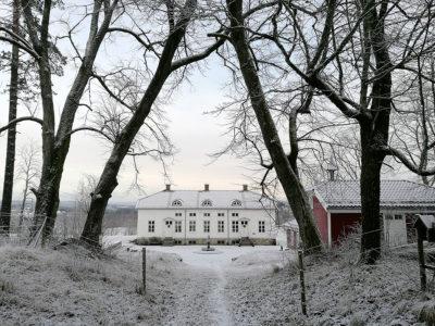 Det er ikke vanskelig å se at lystgården en gang har tilhørt fiffen. Med skogen tett inntil og utsikt over fjorden, har Anne Håbu og Tor Øvrebø funnet sitt paradis. (Foto: Anne Håbu)