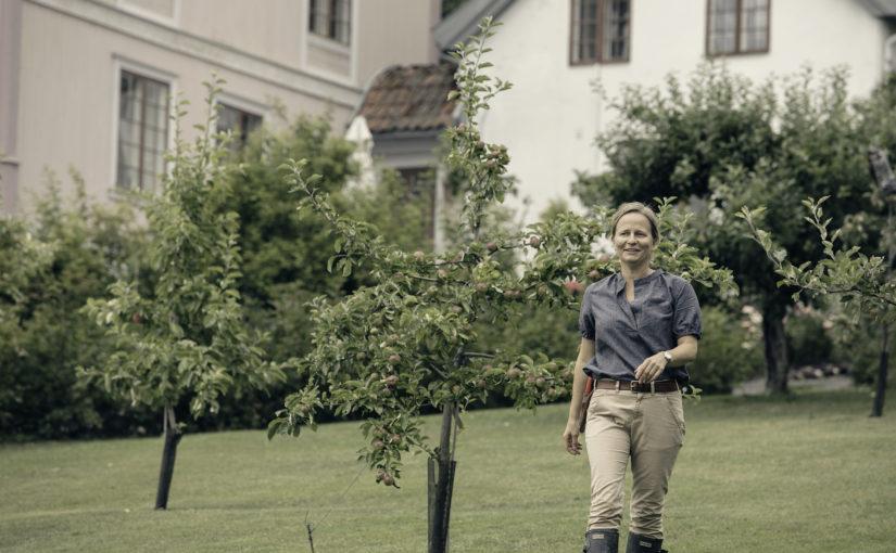 Marianne Olssøn har tilbakeført barokkhagen på Hovelsrud gård i Ringsaker, og har skapt sin egen arbeidsplass med gårdsturisme, egne produkter fra hagen og produksjon av økologisk kylling. (Foto: Tom Gustavsen)