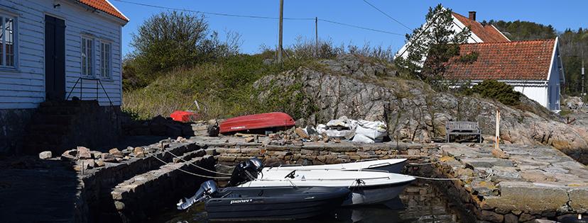 Bryggeanlegget sett fra sjøsiden under istandsettingen. (foto: Einar Engen/Kulturminnefondet).