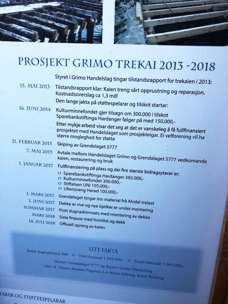 Historien om prosjektet på Grimo trekai.