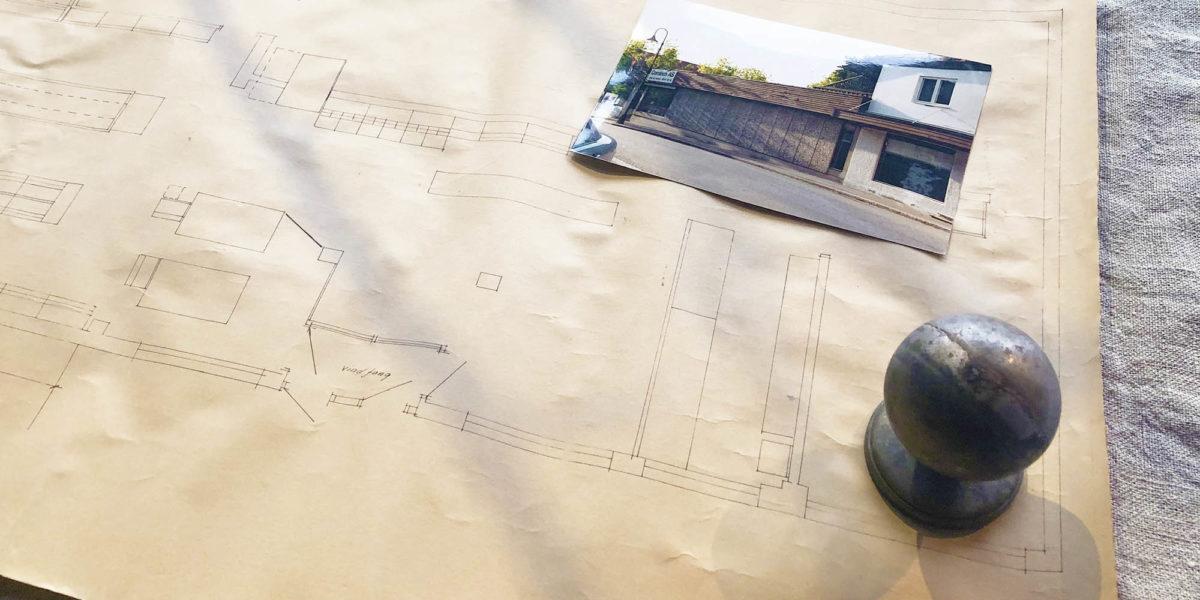 Tegninger av bygget.