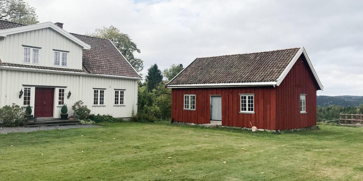 Tunet på Fagerås gård ble flott etter at bryggerhuset er satt i stand. (Foto: Rune Strønes)