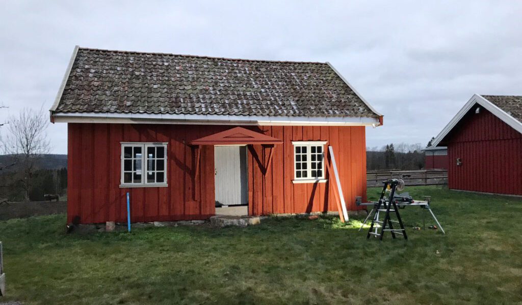 Overbygget gir huset en ekstra dimensjon. (Foto: Rune Strønes)