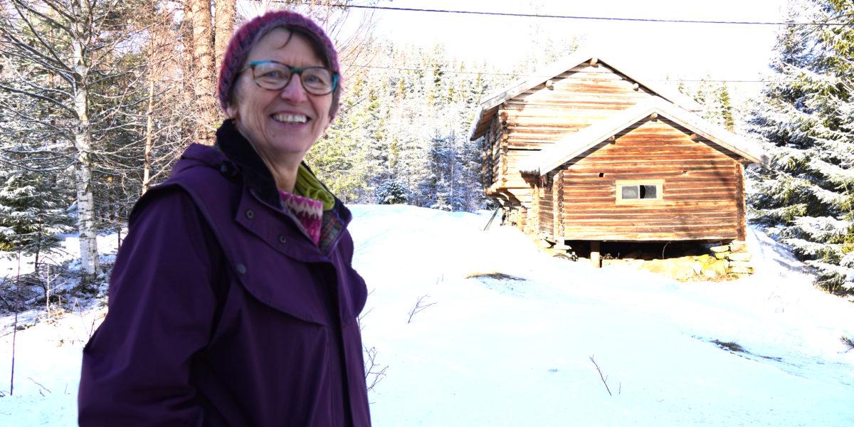Kristin Lindberg er ildsjelen bak arbeidet med Grensbråtan. Foto: Line Lyngstad