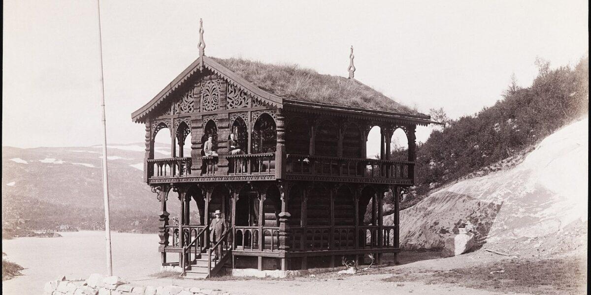 """Historisk foto fra Nasjonalbiblioteket: """"Thelemarken, Botten"""""""