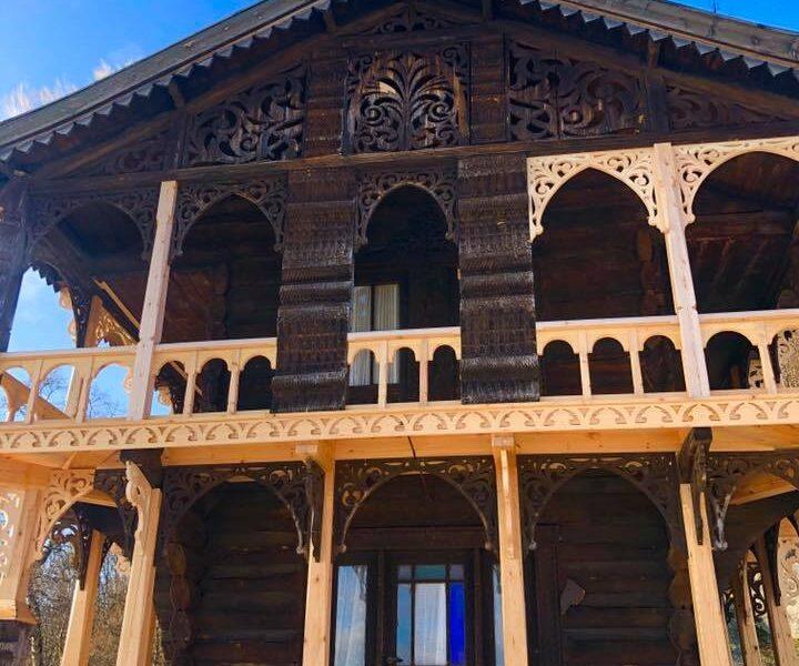 Fasaden på stabburet.