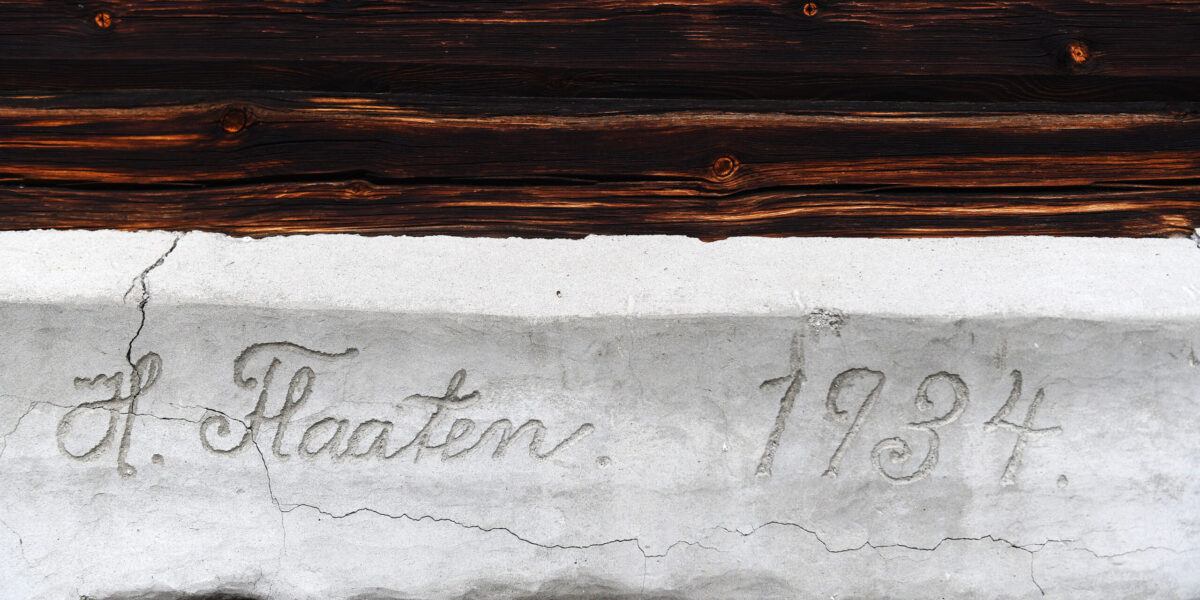Slektshistorien sitter i veggene. Foto: Einar Almehagen