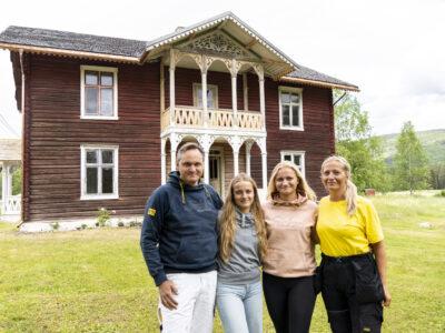 Familien Wessel: Bianca og Børre med døtrene Amélie og Beatrice. Foto: Monica Hägglund Langen