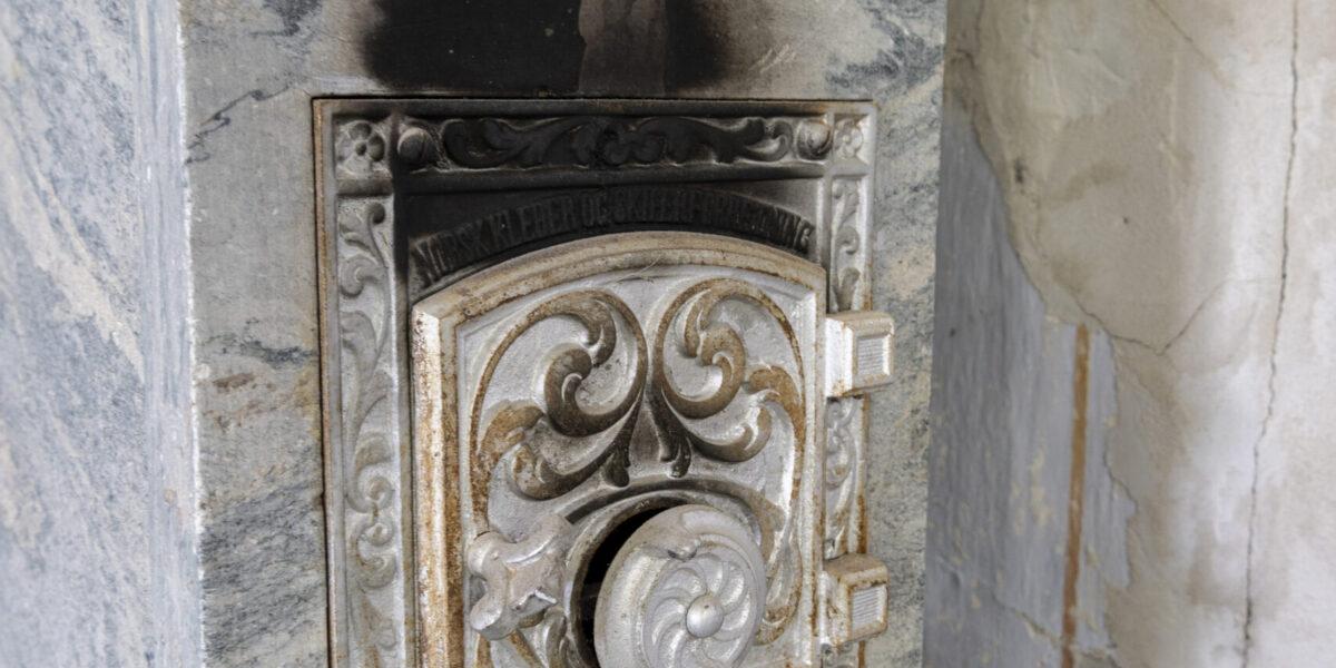 Detaljer fra Villa Wessel. Norskproduserte ovner. Foto: Monica Hägglund Langen